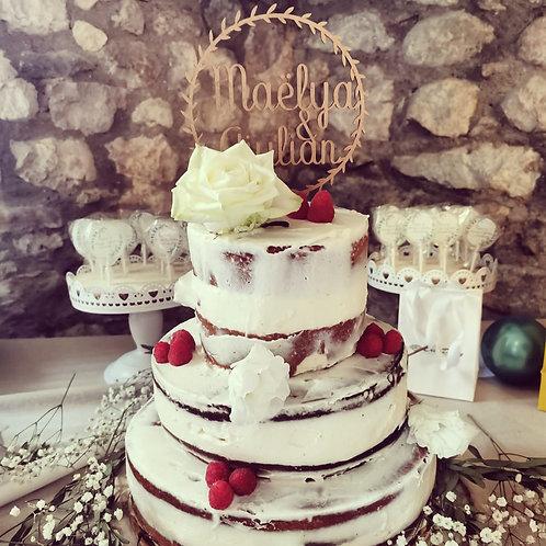 Cake topper prénom