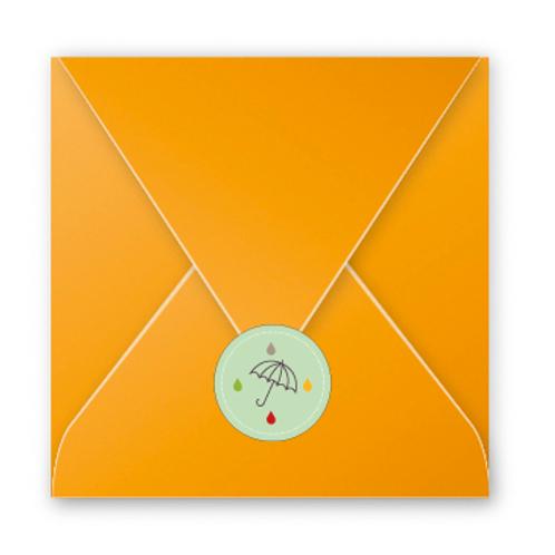 Stickers enveloppes parapluie