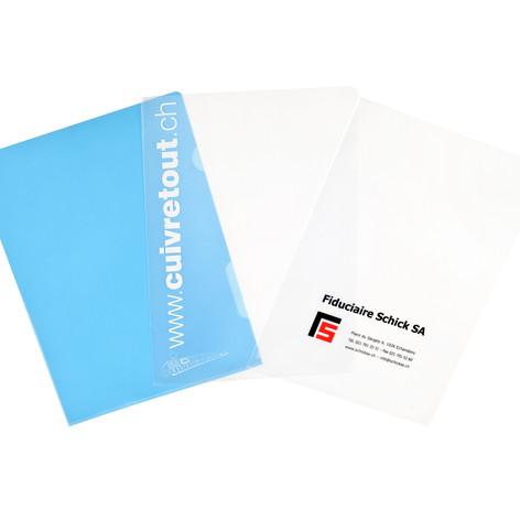 Pochette plastique personnalisée