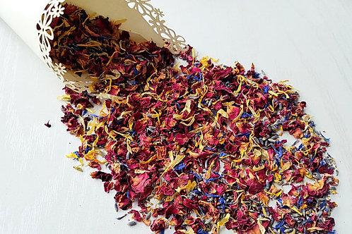 Confettis de fleurs séchées