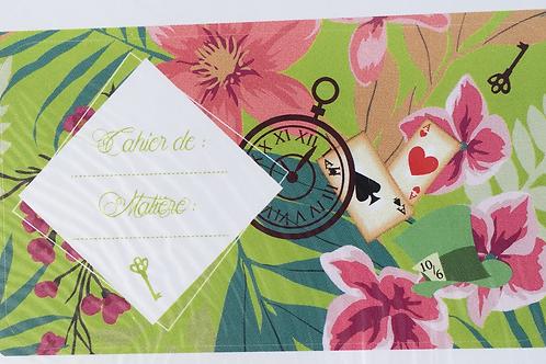 """Stickers pour cahier collection """"Alice au Pays des Merveilles"""""""