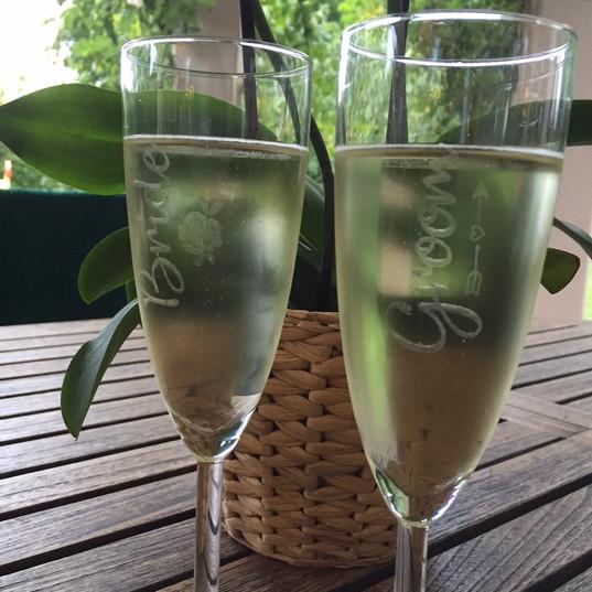 Flûte à champagne pour mariés