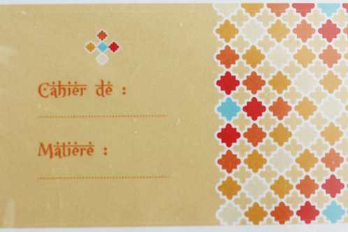 """Stickers pour cahier collection """"Orientale"""""""