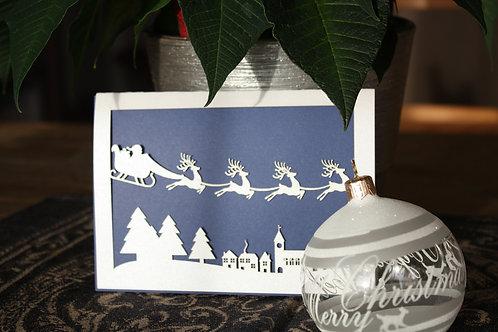 Carte village de Noël