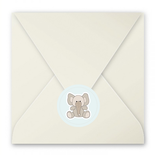Stickers enveloppes éléphant