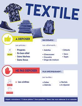 Dépôt textiles