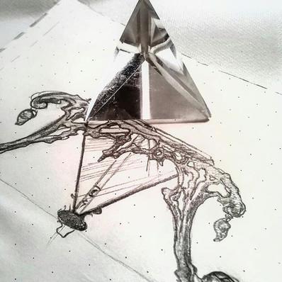 Rock crystal pyramid
