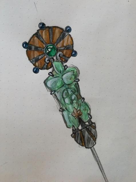 Schets voor een cliquet broche - sketch for a cliquet brooch