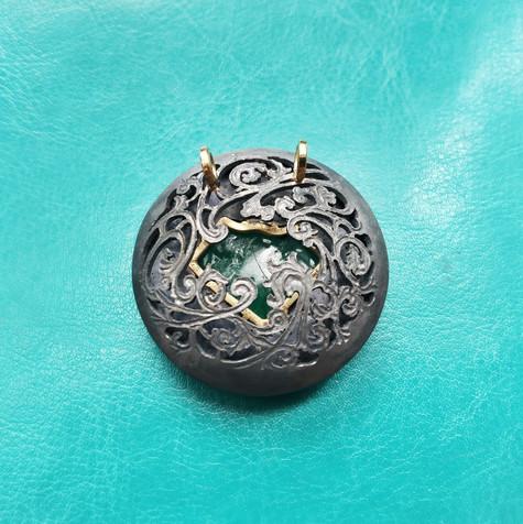 Mughal smaragd hanger - Mughal emerald pendant
