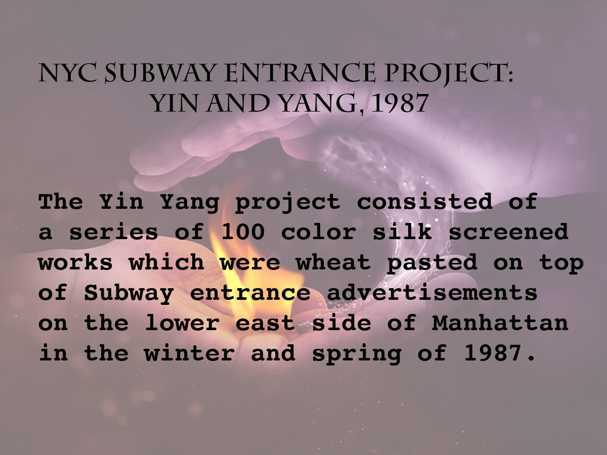 NYC SUBWAY ENTRANCE PROJECT- YIN AND YAN