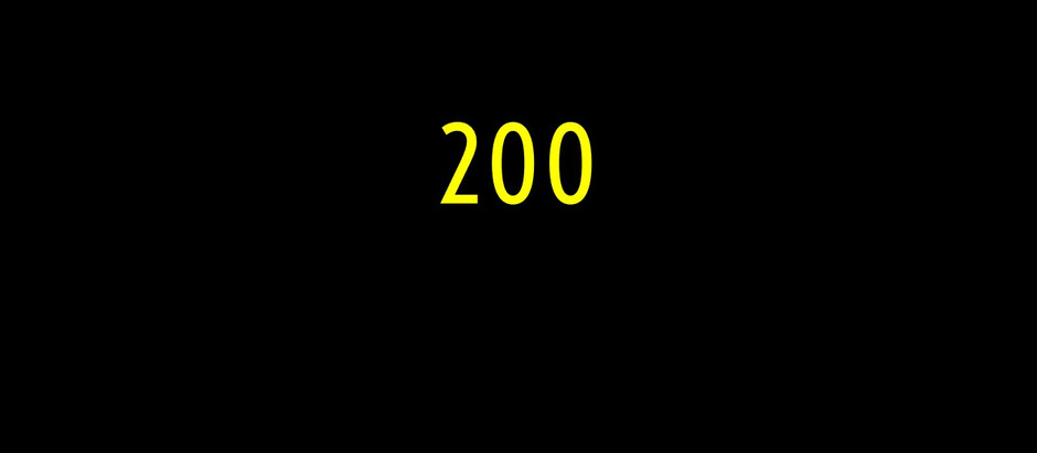 What does 200 mean to you?