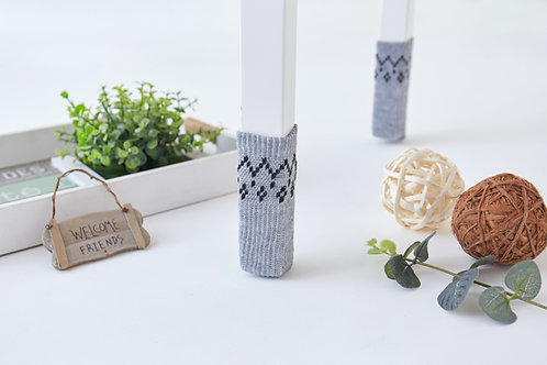 Pure Gray with pattern Chair socks- Christmas gift /Mother's day gift /unique