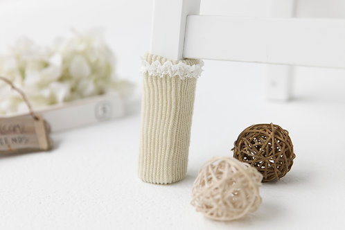 Laced Beige Chair socks/Easter gifts/New Year gift/unique gift/X'mas gift