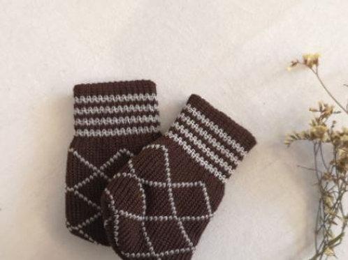 Stripe & Dots (Black brown) furniture socks
