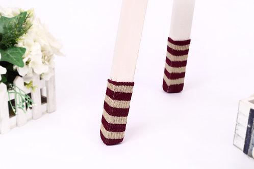 Burgundy & Beige Chair socks- Christmas gift /New year gift