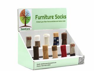 SeedCare Chair Socks wholesale disaplay