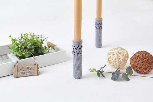 Pure Gray with pattern Furniture socks- Easter gifts/New home gift / unique