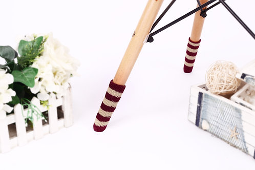 Burgundy and Beige stripes Chair socks- Christmas gift /New home gift /