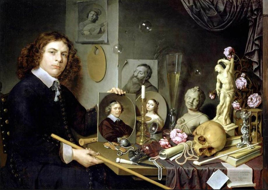 David Bailly, Vanité au portrait, 1651,