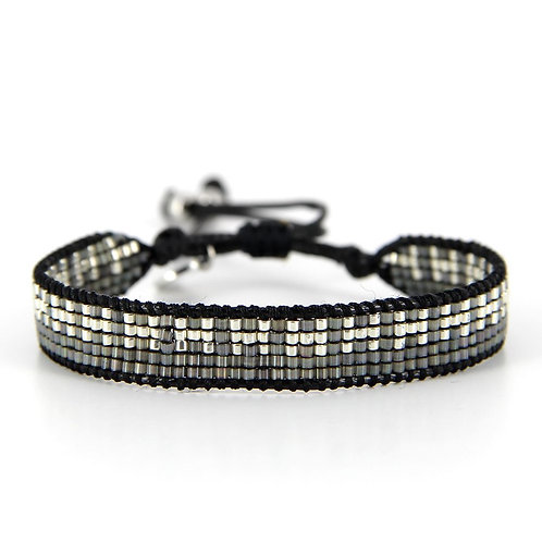 Bracelet B-1800 Black Silver