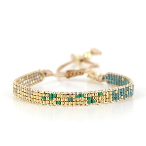Bracelet B-1541 Green Passion Gold