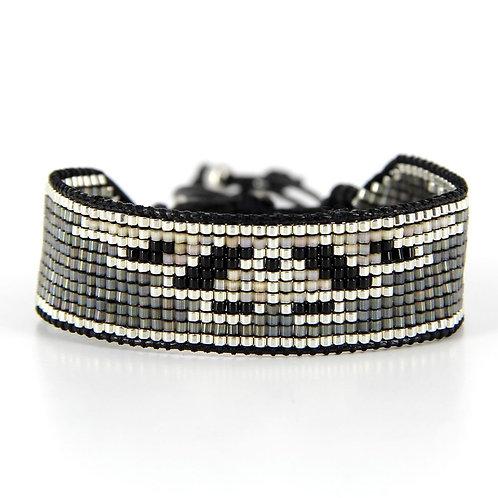 Bracelet B-1794 Black Silver