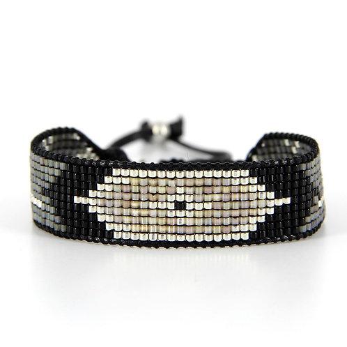 Bracelet B-1720 Black Silver