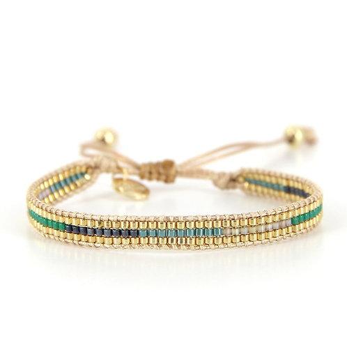 Bracelet B-1543 Green Passion Gold