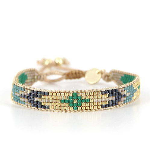 Bracelet B-1538 Green Passion Gold