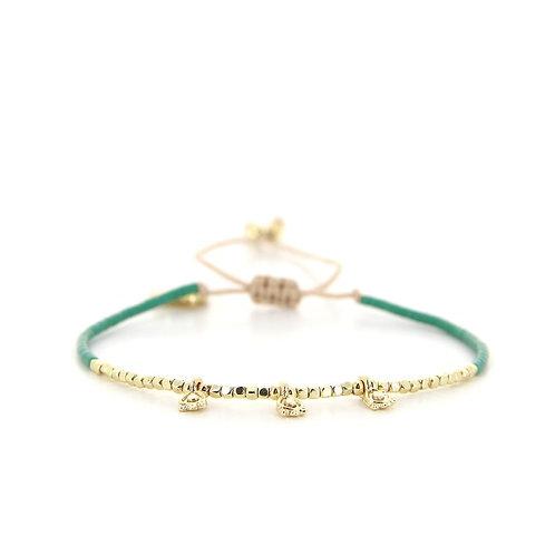 Bracelet B-1818 Green Passion Gold