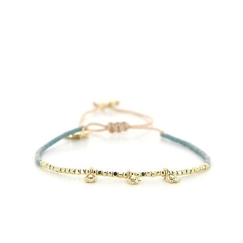 Bracelet B-1818 Gold Pastel Green