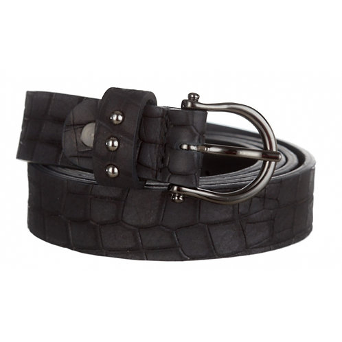 BELT CROCO BLACK