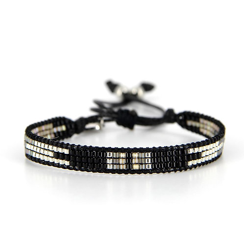 Bracelet B-1192 Black Silver