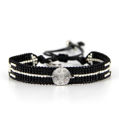 Bracelet B-1730 Black Silver