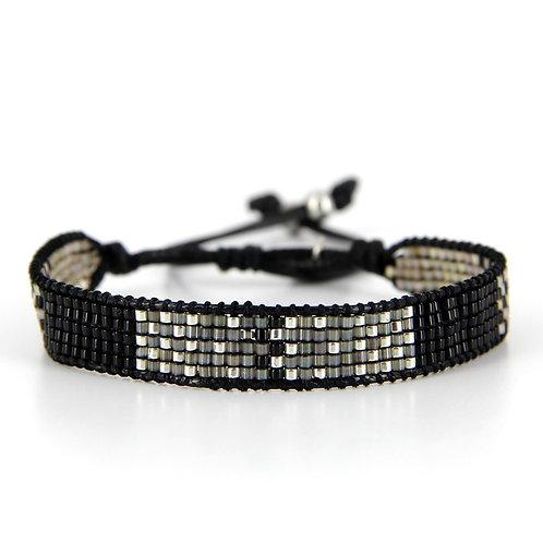 Bracelet B-1798 Black Silver