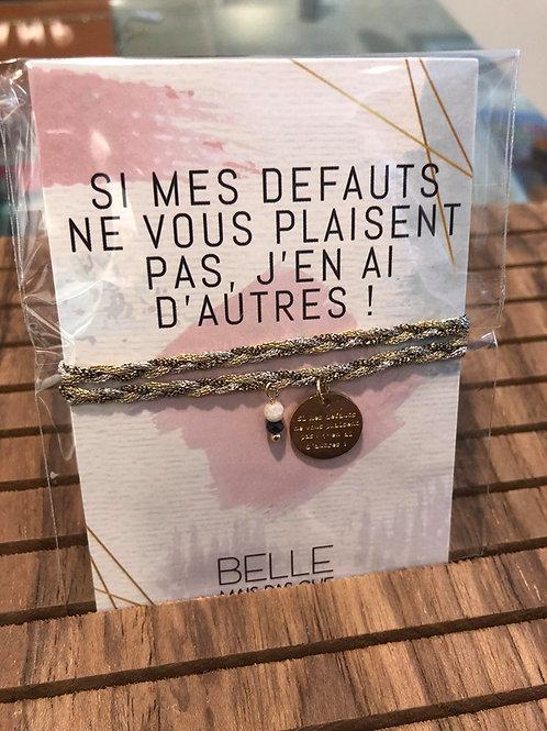 "Bracelet message "" Je suis venu te dire"""