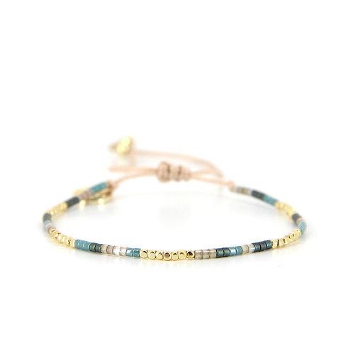 Bracelet B-1363 Gold Pastel Green
