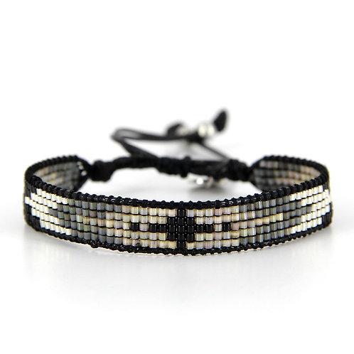 Bracelet B-1538 Black Silver