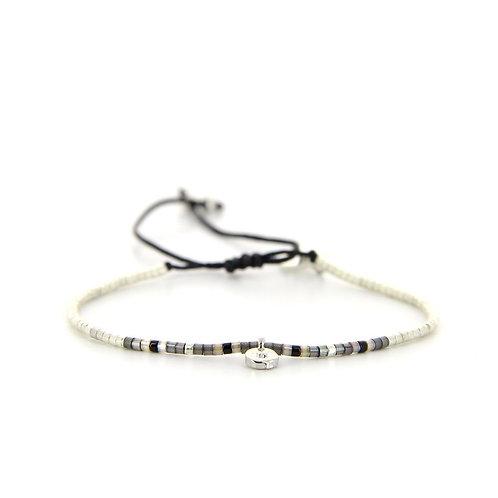 Bracelet B-1828 Black Silver