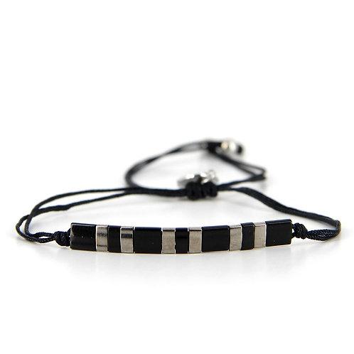 Bracelet B-1803 Black Silver