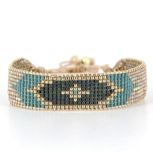 Bracelet B-1720 Gold Pastel Green