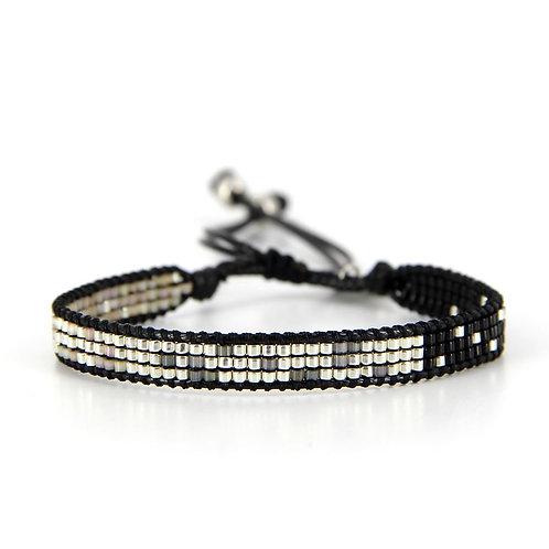 Bracelet B-1541 Black Silver