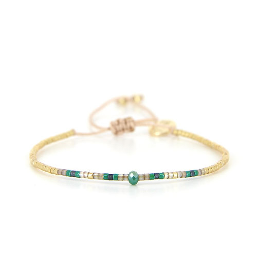 Bracelet B-1362 Green Passion Gold