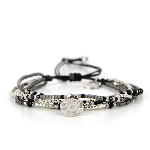 Bracelet B-1721 Black Silver
