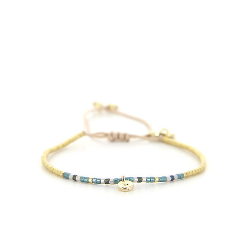 Bracelet B-1828 Gold Pastel Green