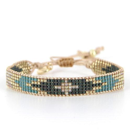Bracelet B-1538 Gold Pastel Green