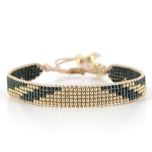 Bracelet B-1796 Gold Pastel Green