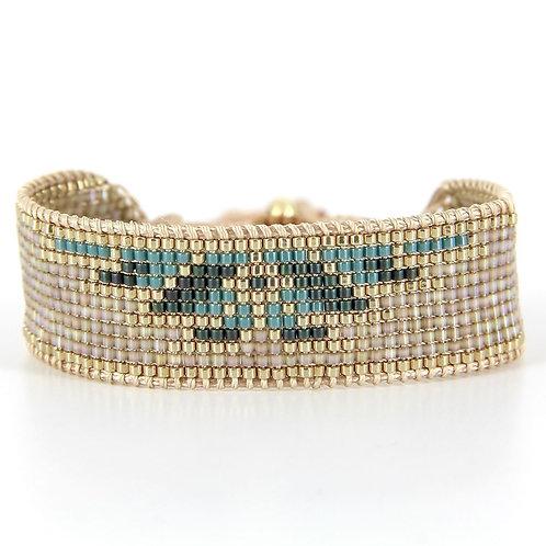 Bracelet B-1794 Gold Pastel Green