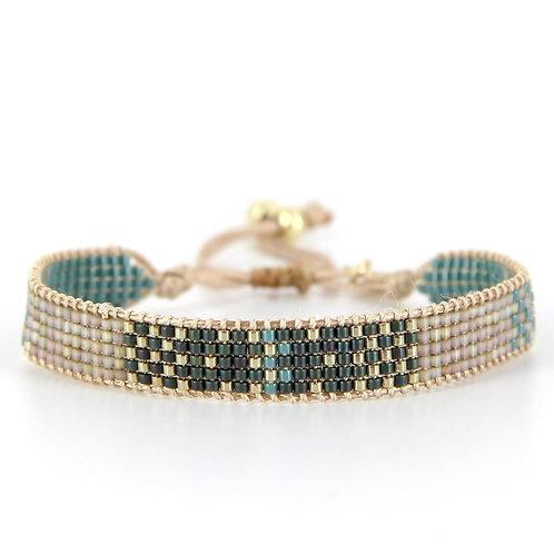 Bracelet B-1798 Gold Pastel Green