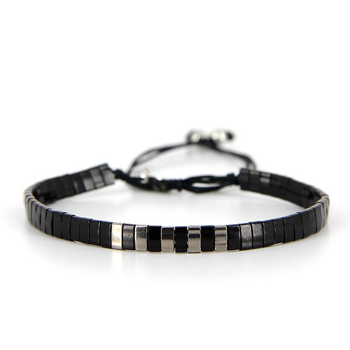 Bracelet B-1801 Black Silver